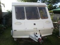 Fleetwood Colchester 1500/2SB Caravan. 1996 Model.