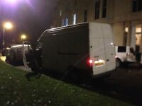 Small man with a big van