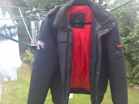 Mens black coat (medium)