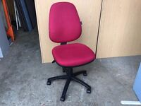 COMMERCIAL QUALITY RED HIGH BACK OFFICE CHAIR