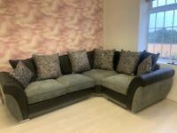 Black & Grey Corner Sofa **EX DISPLAY**