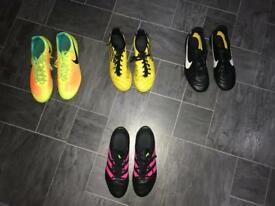 4 pair of football boots for sale