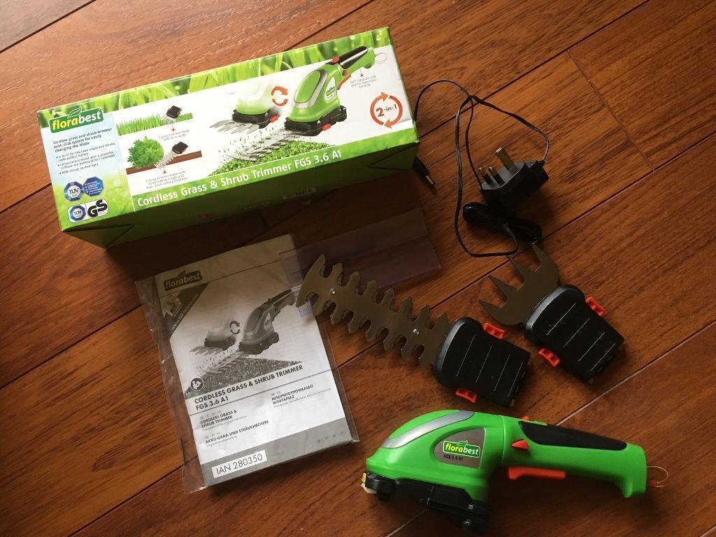 Cordless grass & shrub trimmer
