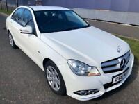 LOW MILES (2011) MERCEDES C220 CDI SE ED BLUEEFFICIENCY -LEATHER -ALLOYS - FSH - EDITION 125 -WHITE