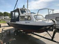 17ft Wilson flyer 90hp Yamaha and trailer boat