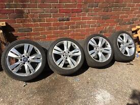 "Mercedes cls 18"" wheels and tyres 5x112 275/35/18 245/40/18"