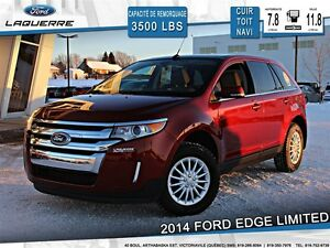 2014 Ford Edge **LIMITED*AWD*TOIT*CUIR*NAVI*CAMERA*CRUISE*A/C**