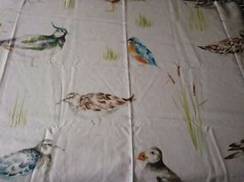 Designer Bird Curtain Fabric