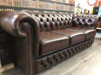 Chesterfield Club Sofa - Antique Brown