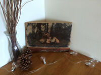 Personalized Printed Image on Wood Rustic style Custom gifts handmade Oak Board birthday present