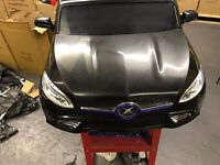Lightly Used Black Mercedes Style Electric 24V Twin Seat Kid Ride On Car with Parental Control M34