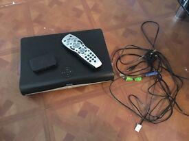 Sky box, remote, on demand box, leds