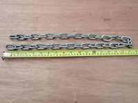 Security Chain: three feet: hardened steel: used but serviceable.