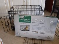 """MidWest iCRATE 1522DD Double Door Metal Dog Crate X-Small 22""""x13""""x16"""""""