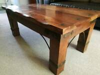 Solid wood dark bespoke table