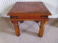 Mango wood side/lamp table.