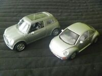 Two Model Cars – Volkswagen Beetle and Mini