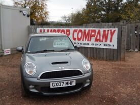 MINI COOPER S 2007 1.6 LTR TURBO PETROL 1 YEAR FRESH MOT 86000 MILES WARRANTIED EXCELLENT CONDITION!