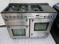 Tecnik Range Cooker with Matching Hood and Splashback 110cm All Gas