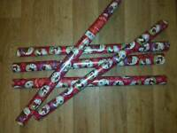 5 New reindeer & Robin Xmas wrapping paper