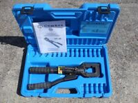 Cembre HT50 single speed, hand hydraulic crimper, crimping tool & case.