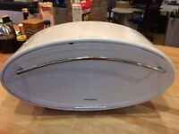 WHITE OVAL METAL'TYPHOON' BREAD BIN (KITCHEN ROLL HOLDER AVAILABLE)