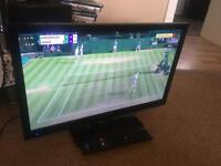 """Hitachi 22"""" lcd tv with remote control good full working condition"""