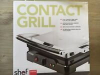Shef Stainless Steel 2000W 4-Portion Contact Grill / Griddle