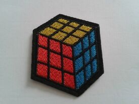 Patched up - Rubik's Cube Iron on Patch for Clothes,hats,bags Shoes Etc. Free delivery on £5+ Orders