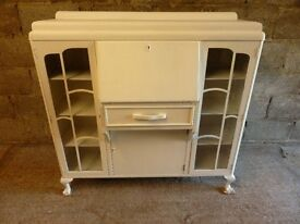 Refurbished 1940's display cabinet with glass doors