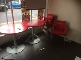 Coca Cola table and chairs