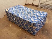 Single kids (170cm) bed with mattress and storage space