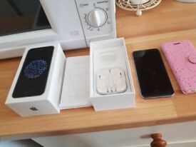 I phone 6 excellent condition box case unused earphones