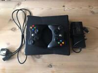 Xbox 360 with 2 controllers, hard drive and games