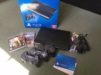 Playstation 3 (three controllers + The Last of Us + Motorstorm Pacific Rift)