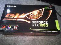 nvidia GTX 1080 8GB Gigabyte G1 Gaming GFX card