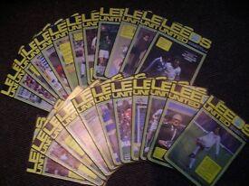 Leeds United Home Football Programmes 1980's