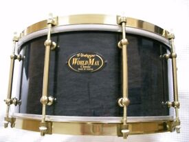 "WorldMax Vintage Classic maple-ply snare drum - 14 x 6 1/2"" - early model - NOS"