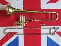 Vintage Holton TR395 Brass Superbone Trombone 1970s