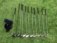 Howson beginners golf clubs - various clubs