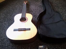 CLECA GUITAR MODEL NO. DAG-IN-36- 6 STRING/ WITH BLACK CANVAS COVER