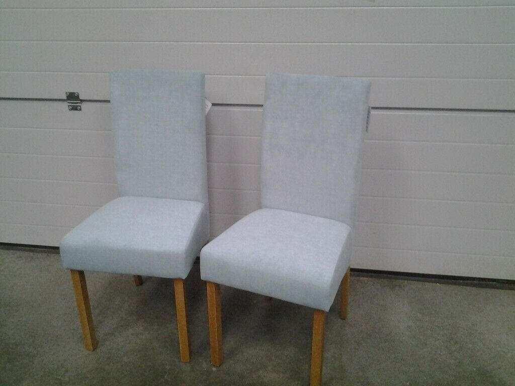 Peachy New Bargain Pair Dining Chairs In Duck Egg Blue Colour Fabric Can Deliver In Norwich Norfolk Gumtree Cjindustries Chair Design For Home Cjindustriesco