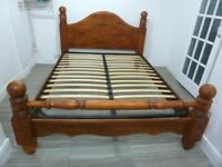 SOLID WOOD KING SIZE CHUNKY WOODEN BED FRAME >>>>>>>>>>>>>>>>>>>>