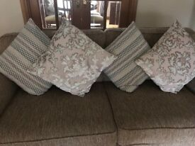 4 Marks & Spencer cushions in 2 designs