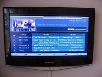 """Boxed Like New Samsung 26""""LCD Digital TV with Wall Mount Kit Included."""