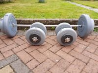 Weights, dumbbells & weights bar,