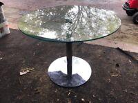 Circular Glass Dining Table 100 cm
