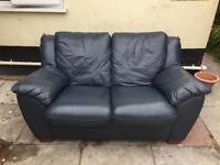 Two seater leather sofa COLLECTION ONLY
