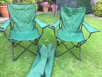 Pair of Camping / Folding Chairs