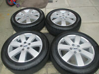 "ford focus mondeo transit connect 16"" alloy wheels 5stud all tyres like new"